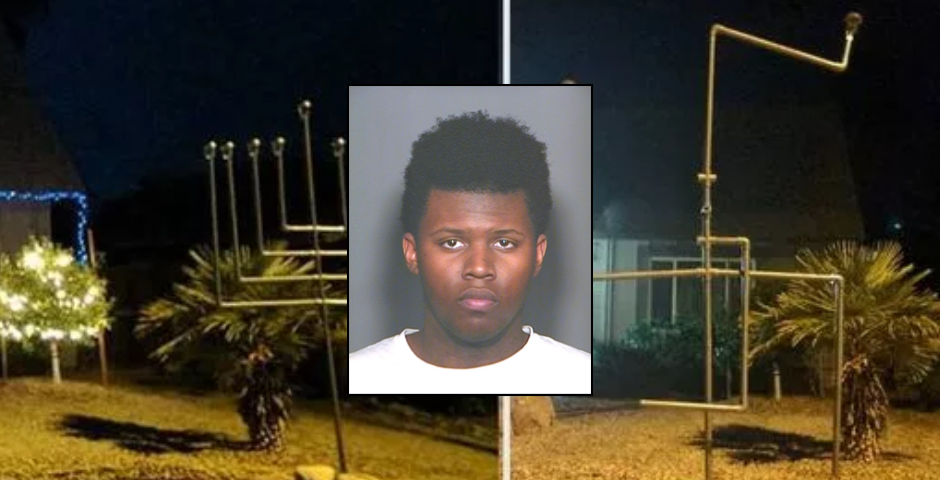 Black male charged in high profile menorah vandalism