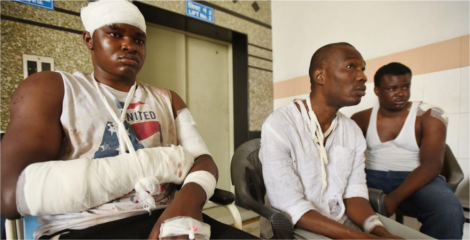 African students beaten by mobs in India