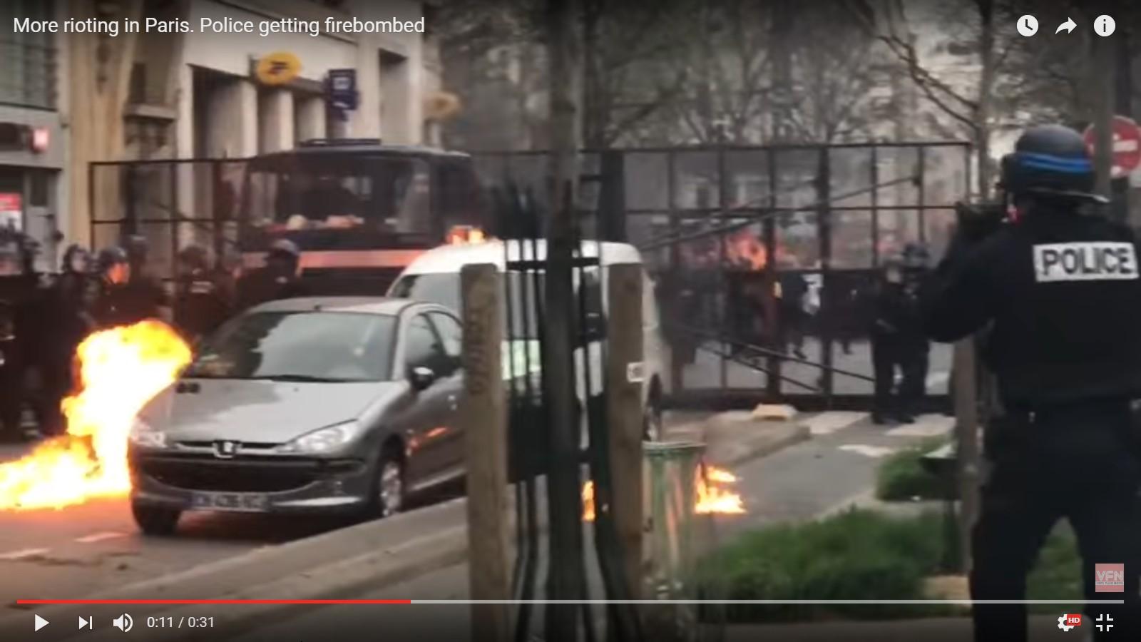 Far-left/Antifa gangs riot in Paris