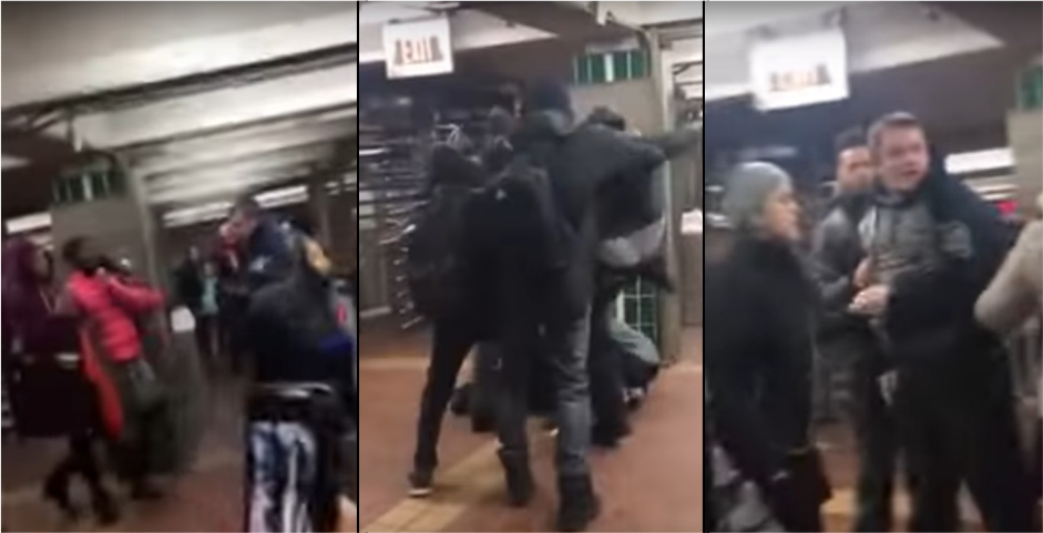 Mob attack at Philadelphia subway station caught on camera
