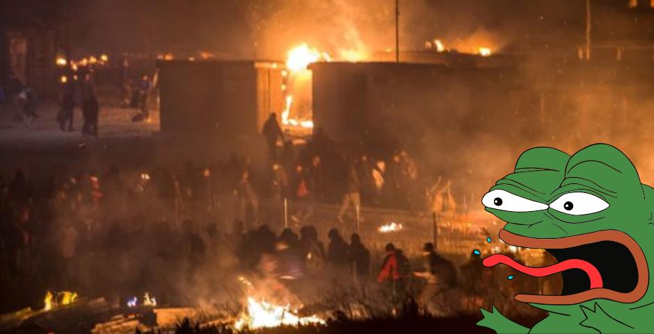 1,500 person refugee camp burns down during Kurd/Afghan turf war