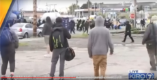 """Street people"" chase large group of Antifa away in Olympia, WA"