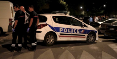 American style gangland shooting outside French Mosque