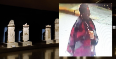Black/African woman vandalizes ancient monuments in Greece